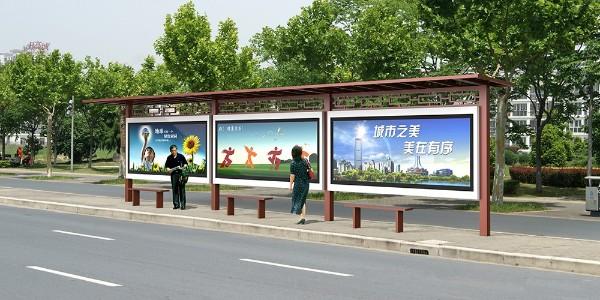 河北省泊头市定制公交候车亭、站牌、垃圾箱等街具