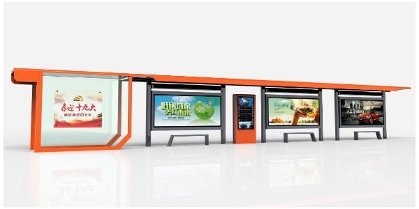 浅析新型候车亭,公交站台灯箱的作用