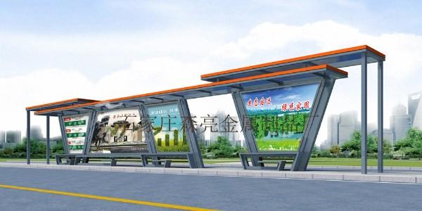 河北省张家口市康保县定制公交候车亭、站牌、垃圾箱等街具
