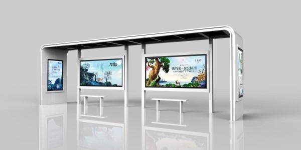河北省任丘市定制公交候车亭、站牌、垃圾箱等街具